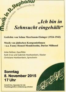 Selma Meerbaum Eisinger, 8. 11. 2015 1